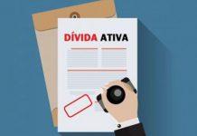 Ilustração documentos de dívida ativa