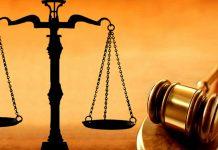 Ilustração de Balança e Malhete da Justiça