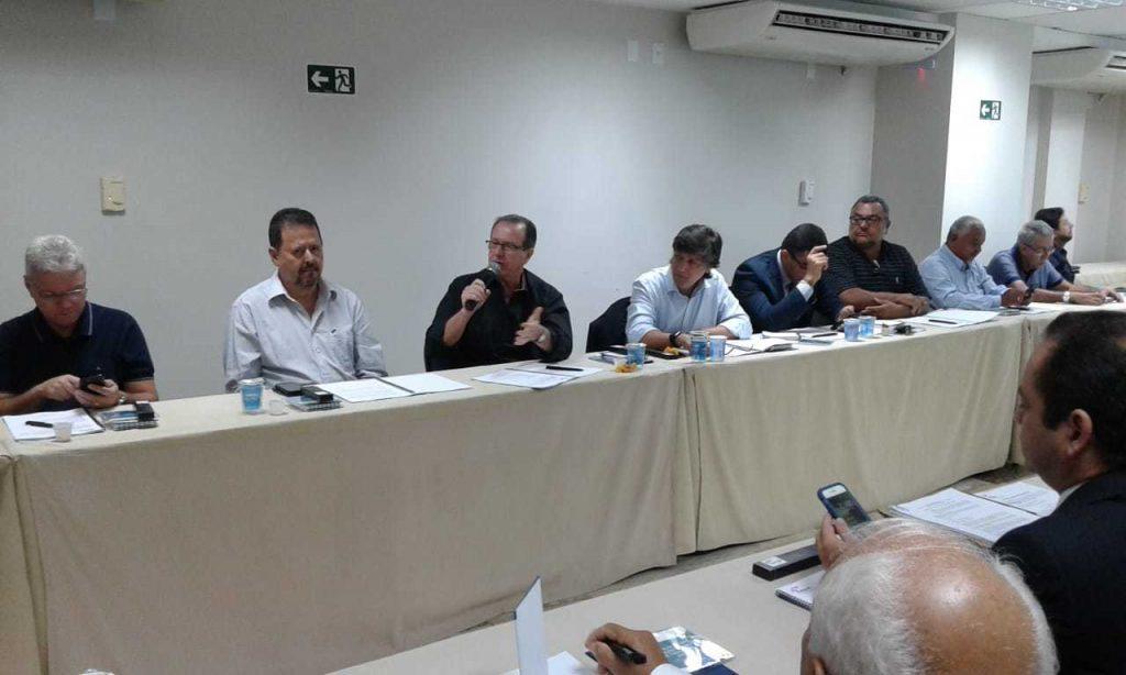 O presidente do Seac-RJ, Ricardo Garcia, durante a 12ª Assembleia Geral Extraordinária (AGE) da Febrac, Gestão 2018-2022